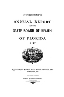 Annual report of the State Board of Health of Florida: 19th 1907