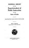 Biennial report of the Superintendent of Public Instruction of the State of Florida: 1918/1920