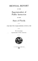 Biennial report of the Superintendent of Public Instruction of the State of Florida: 1920/1922