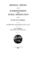 Biennial report of the Superintendent of Public Instruction of the State of Florida: 1924/1926