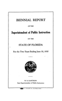 Biennial report of the Superintendent of Public Instruction of the State of Florida: 1928/1930