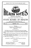 Florida health notes: volume 15 no. 3 (March 1923)
