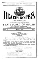 Florida health notes: volume 15 no. 4 (April 1923)