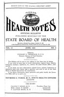Florida health notes: volume 15 no. 6 (June 1923)