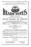 Florida health notes: volume 15 no. 8 (August 1923)