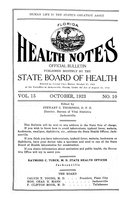 Florida health notes: volume 15 no. 10 (October 1923)