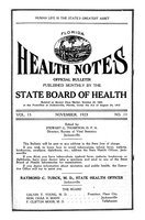 Florida health notes: volume 15 no. 11 (November 1923)