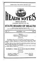 Florida health notes: volume 15 no. 12 (December 1923)