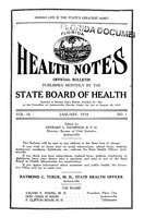 Florida health notes: volume 16 no. 1 (January 1924)