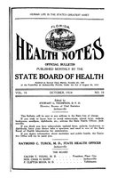 Florida health notes: volume 16 no. 10 (October 1924)
