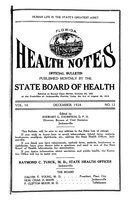 Florida health notes: volume 16 no. 12 (December 1924)