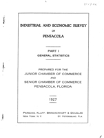 Industrial and economic survey of Pensacola: Industrial and economic survey of Pensacola Part 1 - General Statistics