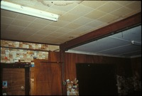 [Monroe Station '92 Ceiling Downstairs-Beam showing where original building stopped]
