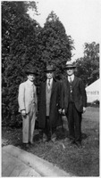 James Calderwood, David Richards, and James Bubbett posing