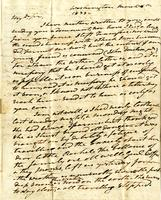 1833 Letter from President Andrew Jackson to William Donelson